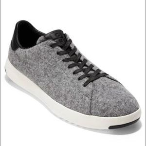 Cole Haan Grandpro Tennis Gray Wool Sneakers NIB